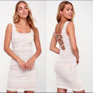 Lulu's White Lace Dress (XL)